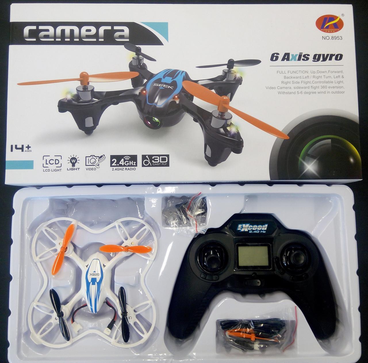 Радиоуправляемый квадрокоптер 8953, камера, дрон