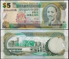 Барбадос / Barbados 5 Dollars 2012 Pick 67c UNC