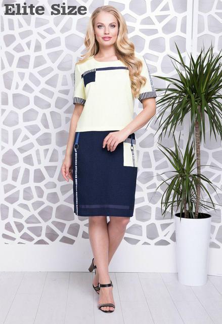 › Летнее льняное платье большой размер р. 50,52,54,56