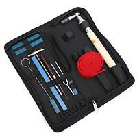 10PcsPianoTuningHammerбезгласныйГаечный ключ Hammer Ручка Набор Профессиональные инструменты + чехол