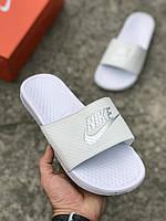 Резиновые тапочки Nike Air белые(копия)