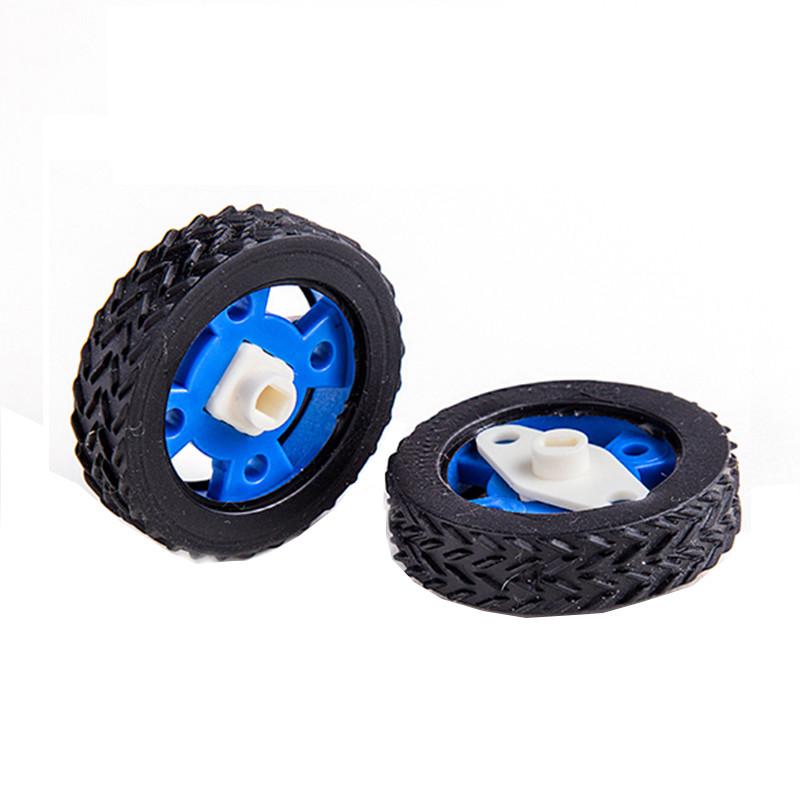 Пара 47 мм резиновых колес для шаговых двигателей DC Motors Arduino Smart Robot Accessories 1TopShop
