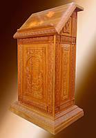 Деревянный аналой резной для храма 75x50см, фото 1