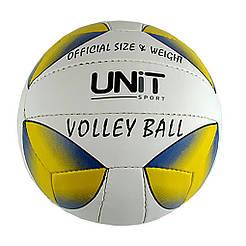 Мяч волейбольный UNIT 20155-US желто-синяя капля