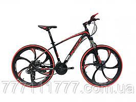 """Велосипед на литых дисках Make 26"""" red красный НА ДИСКАХ Гарантия!"""