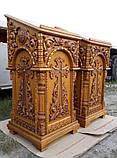 Резной аналой из дуба (боковой для храма), фото 3