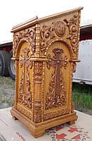 Резной аналой из дуба (боковой для храма), фото 1