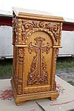 Резной аналой из дуба (боковой для храма), фото 2