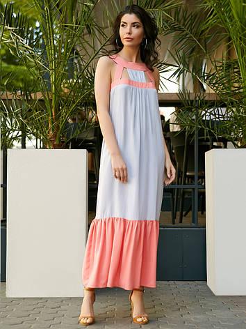 Легке плаття А-силуету з відкритими плечима і акцентом на поличці розмір  44 c1272ea904427