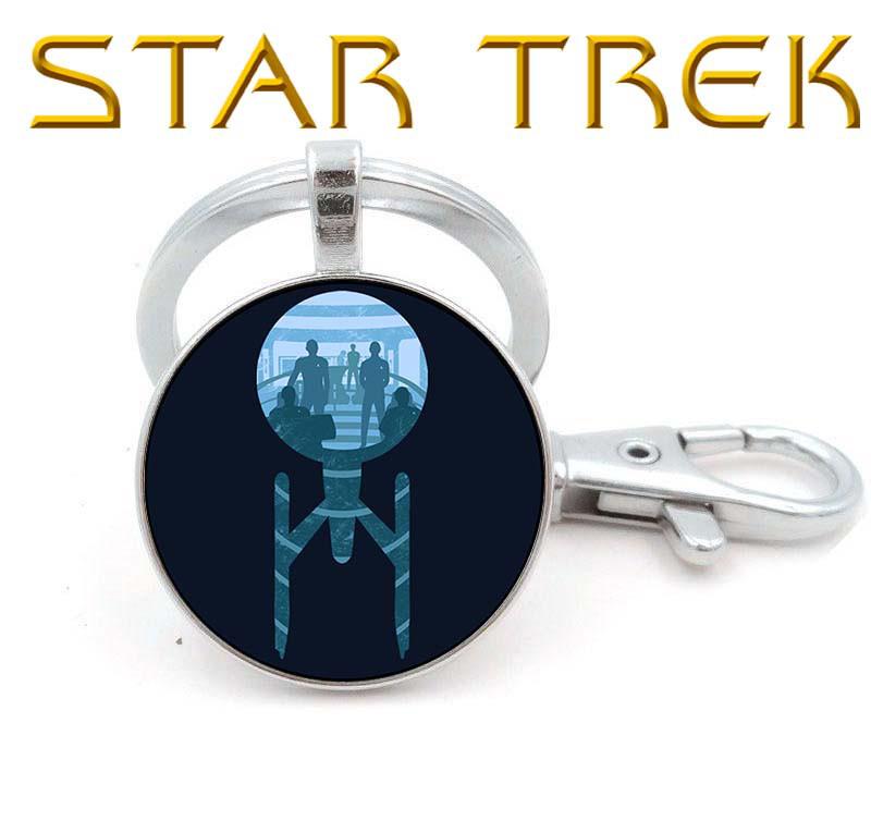 Брелок Star Trek Звездный Путь звездолет с командой