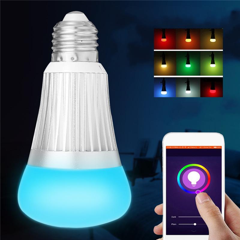 E27 B22 7W SMD5730 WiFi RGBW LED Смарт-лампа Работа света с эхом Alexa AC85-265V 1TopShop
