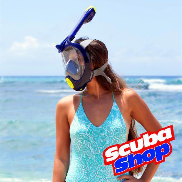 Полнолицевая маска Bs Diver Reef с двумя воздушными клапанами