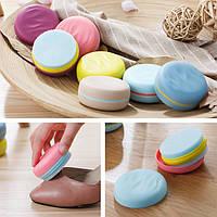 Творческий портативный Macaron Hit Color Двусторонняя губка для обуви Кисти Mini Travel Cleaning Кисти