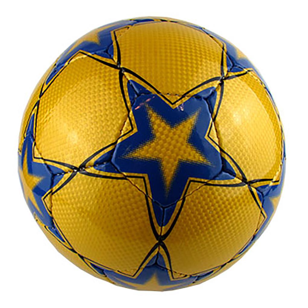 """Мяч футбольный UNIT 20150- US """"Звезда синяя на желтом фоне"""""""
