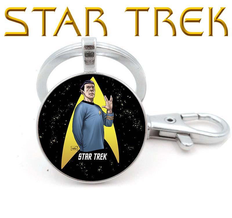 Брелок Star Trek Звездный Путь Логотип и Спок