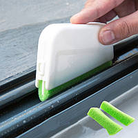 Очистка паза для выемки окон Щетка Скребок для грязной очистки двери Щетка Уборка дома Инструмент