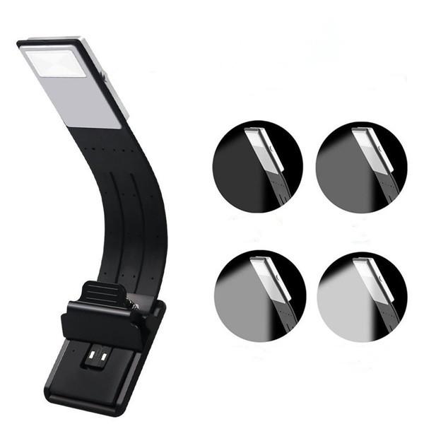 USB перезаряжаемый LED Чтение книги света Многофункциональный гибкий Clip-на ночь Лампа для Kindle IPad 1TopShop