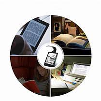 USB перезаряжаемый LED Чтение книги света Многофункциональный гибкий Clip-на ночь Лампа для Kindle IPad 1TopShop, фото 3