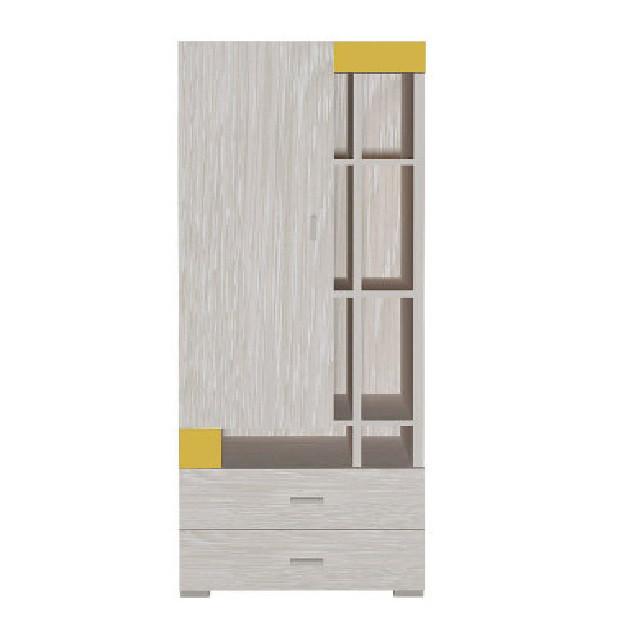 Шафа в дитячу кімнату з ДСП/МДФ AXEL I Blonski 1 дверна атланта+жовтий