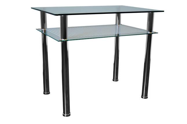 Стол обеденный С-2 Хром закалённое стекло (900х600х750)., фото 2