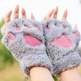 Серые лапки перчатки