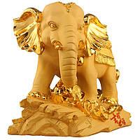 Традиционный китайский талисман смолы Lucky Wealthy Elephant Statue Скульптура Living Room Decorations