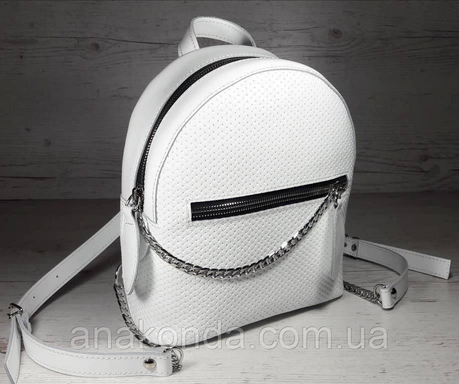 115 Натуральная кожа Городской рюкзак Кожаный рюкзак Из натуральной кожи Рюкзак женский белый рюкзак белый