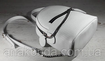115 Натуральная кожа Городской рюкзак Кожаный рюкзак Из натуральной кожи Рюкзак женский белый рюкзак белый, фото 2