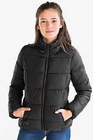 Черная демисезонная куртка для девочки 11-12 лет Размер 152