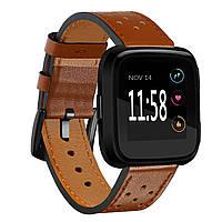 Запасной кожаный запястье Стандарты Часы Стандарты Ремень для Fitbit Versa