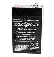 Аккумуляторная батарея LogicPower 6V 4.5 Ah