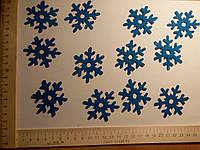 Аппликация термоклеевая снежинка