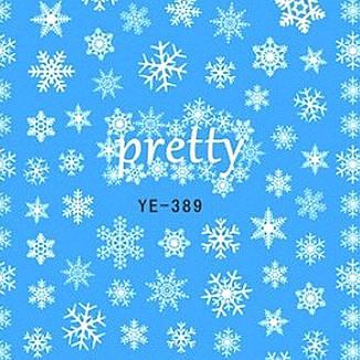 KATTi Наклейки водные - YE 389 белые снежинки (новый год), фото 2