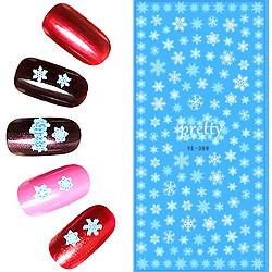KATTi Наклейки водные - YE 389 белые снежинки (новый год)