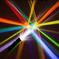 2Pcs 2.2x2.2x2.2cm Оптическое стекло Образовательная призма Крест Дихроичный X-Cube Glass Prism Splitter Prism - 1TopShop