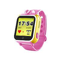 Умные детские часы Baby Smart Watch Q200 Розовые (hub_uJlV86495)