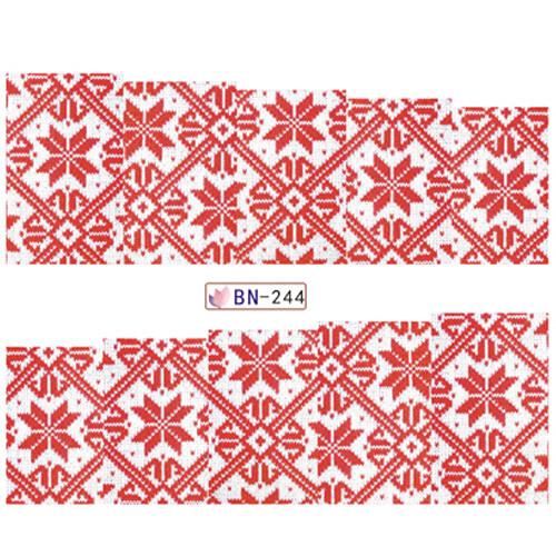 """KATTi Наклейки водные - BN 244 - цветные """"свитер"""" (новый год)"""