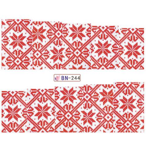 """KATTi Наклейки водные - BN 244 - цветные """"свитер"""" (новый год), фото 2"""
