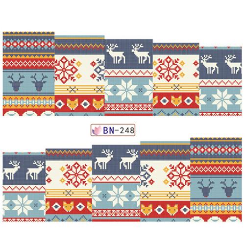 """KATTi Наклейки водные - BN 248 - цветные """"свитер"""" (новый год)"""
