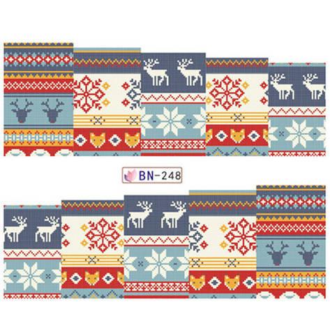 """KATTi Наклейки водные - BN 248 - цветные """"свитер"""" (новый год), фото 2"""