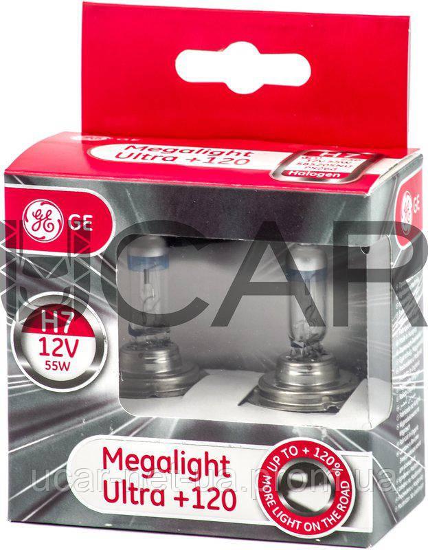 50826bcb160 GE Megalight Ultra +120 H7 PX26d 12V 55W (2 шт.) лампы галогеновые ...