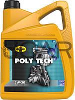 Kroon Oil Poly Tech 5W-30 (API SN) синтетическое моторное масло, 5 л (35467)