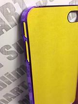Чехол для 2D сублимации пластиковый Iphone 4/4S со стразами фиолетовый хром, фото 3