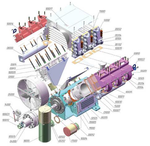 Тен (элемент нагрева 110/220в)на компрессора ПК; ПКС; ПКСД, фото 2