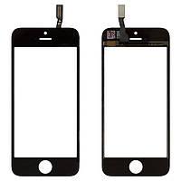 Сенсорный экран iPhone 5S черный (тачскрин, стекло в сборе), Сенсорний екран iPhone 5S чорний (тачскрін, скло в зборі)