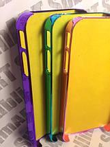Чехол для 2D сублимации пластиковый Iphone 4/4S со стразами бирюзовый хром, фото 3
