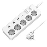 NTONPOWERMPSEUPLUGUSB-удлинительРазъем 4 USB-портовая розетка расширения Защита от перенапряжения переменного тока Защита от перегрузки