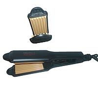 Утюжок гофре для волос INFINITY  IN033TW широкий 40мм. для гофрирования волос
