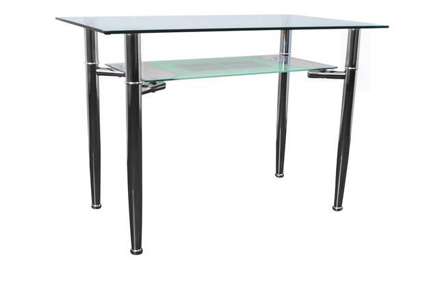 Стол обеденный С-3 Хром закалённое стекло (1100х650х750см.)., фото 2