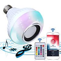 E27 Беспроводная сеть Bluetooth Лампочка для ламп накаливания LED RGBW Музыкальная лампа + 24 Ключ Дистанционное Управление AC85-260V 1TopShop